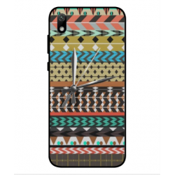 Coque Broderie Mexicaine Avec Horloge Pour Huawei Y5 2019