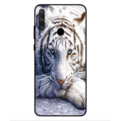 Coque Protection Tigre Blanc Pour Huawei Y6p