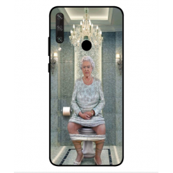 Huawei Y6p Her Majesty Queen Elizabeth On The Toilet Cover