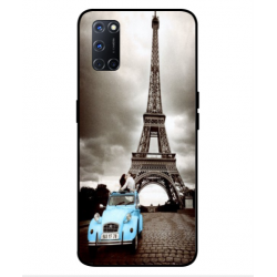 Oppo A92 Vintage Eiffel Tower Case