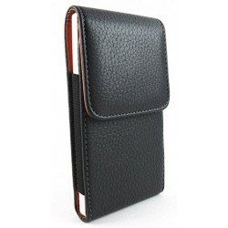 LG Q70 Vertical Leather Case