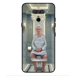 LG Q70 Her Majesty Queen Elizabeth On The Toilet Cover