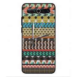 Meizu 17 Mexican Embroidery With Clock Cover