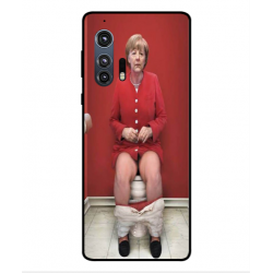 Motorola Edge Plus Angela Merkel On The Toilet Cover