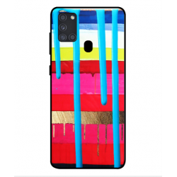 Samsung Galaxy A21s Brushstrokes Cover