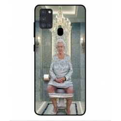 Samsung Galaxy A21s Her Majesty Queen Elizabeth On The Toilet Cover