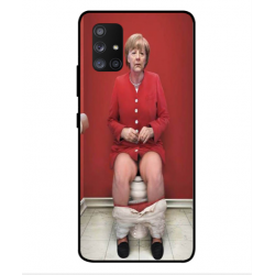 Samsung Galaxy A Quantum Angela Merkel On The Toilet Cover