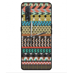 Oppo Find X2 Mexican Embroidery With Clock Cover