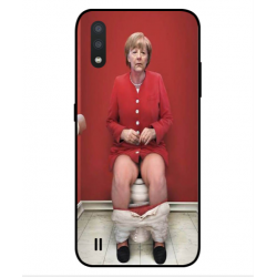 Samsung Galaxy M01 Angela Merkel On The Toilet Cover