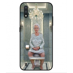 Samsung Galaxy M01 Her Majesty Queen Elizabeth On The Toilet Cover