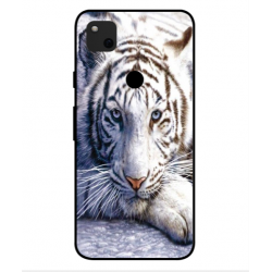 Google Pixel 4a White Tiger Cover