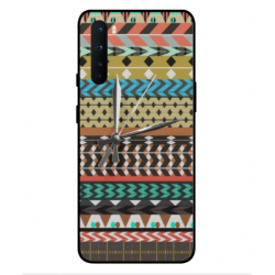 OnePlus Nord Mexican Embroidery With Clock Cover