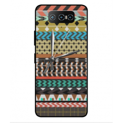 Asus Zenfone 7 ZS670KS Mexican Embroidery With Clock Cover