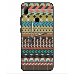 HTC Wildfire E2 Mexican Embroidery With Clock Cover