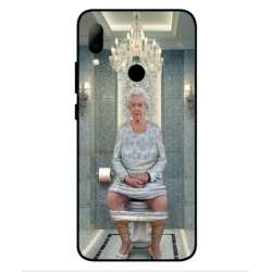 HTC Wildfire E2 Her Majesty Queen Elizabeth On The Toilet Cover