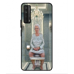Huawei P smart 2021 Her Majesty Queen Elizabeth On The Toilet Cover