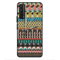 Huawei P smart 2021 Mexican Embroidery With Clock Cover