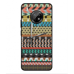 Huawei Y9a Mexican Embroidery With Clock Cover