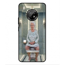 Huawei Y9a Her Majesty Queen Elizabeth On The Toilet Cover