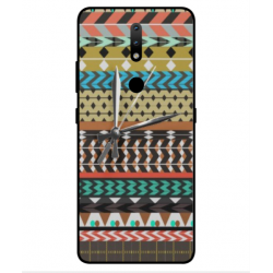 Nokia 2.4 Mexican Embroidery With Clock Cover