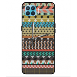 Oppo Reno 4 Lite Mexican Embroidery With Clock Cover