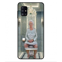 Samsung Galaxy M51 Her Majesty Queen Elizabeth On The Toilet Cover