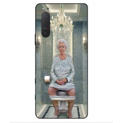 Sony Xperia 5 II Her Majesty Queen Elizabeth On The Toilet Cover