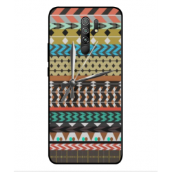 Xiaomi Poco M2 Mexican Embroidery With Clock Cover