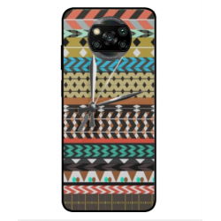 Xiaomi Poco X3 Mexican Embroidery With Clock Cover
