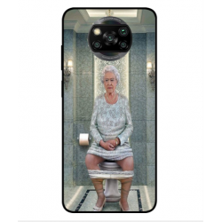 Xiaomi Poco X3 Her Majesty Queen Elizabeth On The Toilet Cover