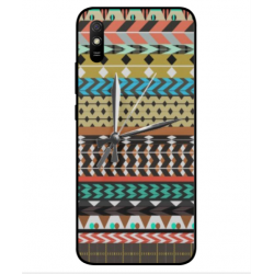 Xiaomi Redmi 9A Mexican Embroidery With Clock Cover