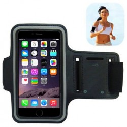 Sport Armbinde Schwarz Neopren Für Alcatel Flash Plus 2