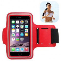 Sport Armbinde Rot Neopren Für Alcatel Flash Plus 2
