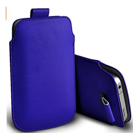 Huawei G7 Plus Blue Pull Pouch