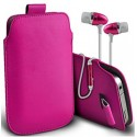 Huawei G7 Plus Pink Pull Pouch Tab