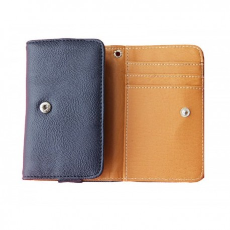 Huawei Honor 4a Blue Wallet Leather Case