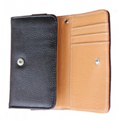 LG Leon Black Wallet Leather Case