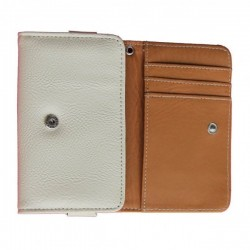 LG Leon White Wallet Leather Case