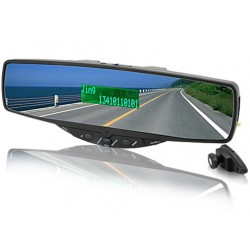 Orange Nura Bluetooth Handsfree Rearview Mirror
