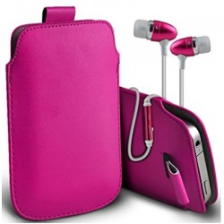 Samsung Galaxy J1 Ace Pink Pull Pouch Tab
