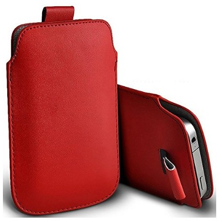 Etui Protection Rouge Pour Vivo X7 Plus