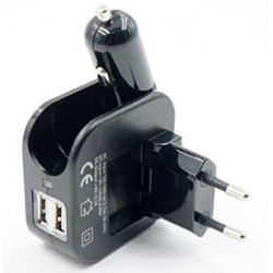 iPhone 4 Car And Home Travel Dual USB Charger