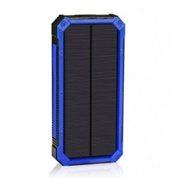 Battery Solar Charger 15000mAh For Wiko Ridge Fab 4G