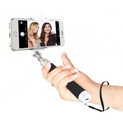 Tige Selfie Extensible Pour Wiko Selfy 4G Rubby