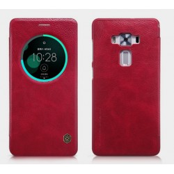 Etui Protection S-View Cover Rouge Pour Asus Zenfone 3 Deluxe ZS570KL