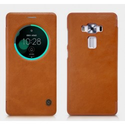 Brown S-view Flip Case For Asus Zenfone 3 Deluxe ZS570KL