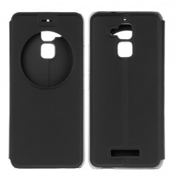 Black S-view Flip Case For Asus Zenfone 3 Max ZC520TL
