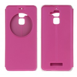 Etui Protection S-View Cover Rose Pour Asus Zenfone 3 Max ZC520TL