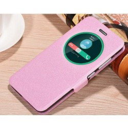Etui Protection S-View Cover Rose Pour Asus Zenfone 3 ZE552KL