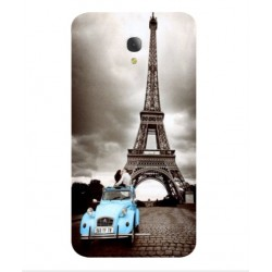 Torre Eiffel Vintage Custodia Per Alcatel Fierce 4